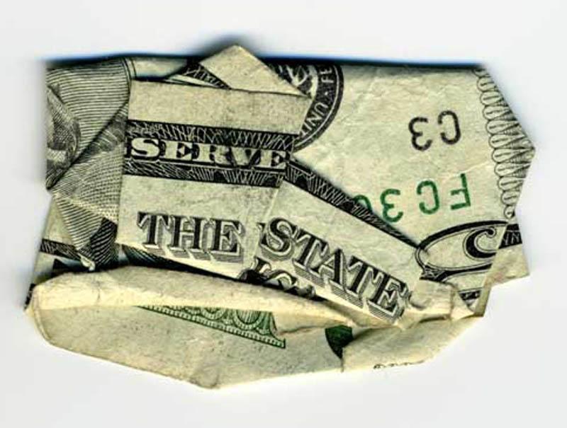 money currency art dan tague serve the state Money Talks: Amazing Dollar Bill Art of Dan Tague [21 pics]