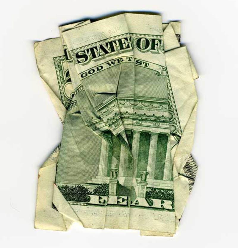 money currency art dan tague state of fear Money Talks: Amazing Dollar Bill Art of Dan Tague [21 pics]