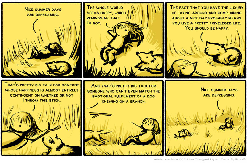 nice summer days are depressing comic funny buttersafe Nice Summer Days are Depressing [Comic Strip]