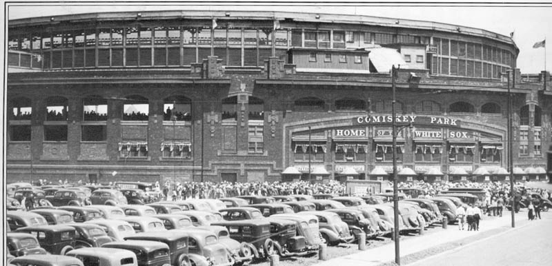 old comiskey park chicago white sox vintage black and white This Day In History   July 6th