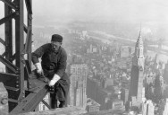 Picture of the Day: Empire State Building Structural Worker 1930