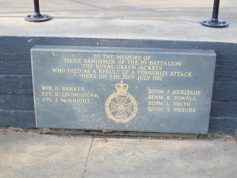 regents park memorial sign This Day In History   July 20th