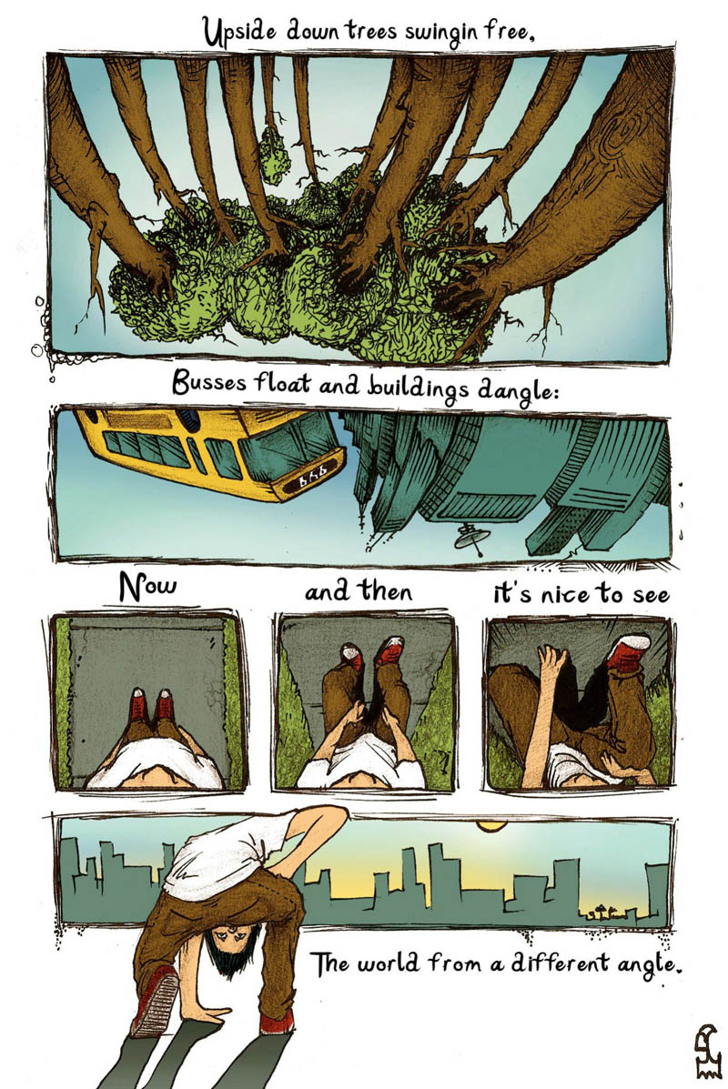 see world from different angle upside down comic shel silverstein See the World Differently [Comic Strip]