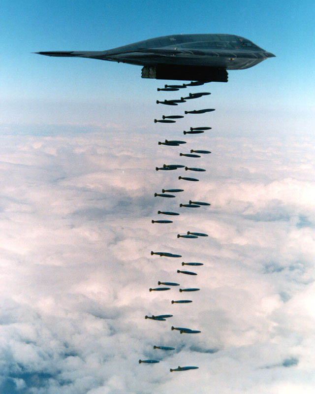 stealth bomber b 2 spirit dropping lots of bombs 10 Things You Didnt Know About the Stealth Bomber