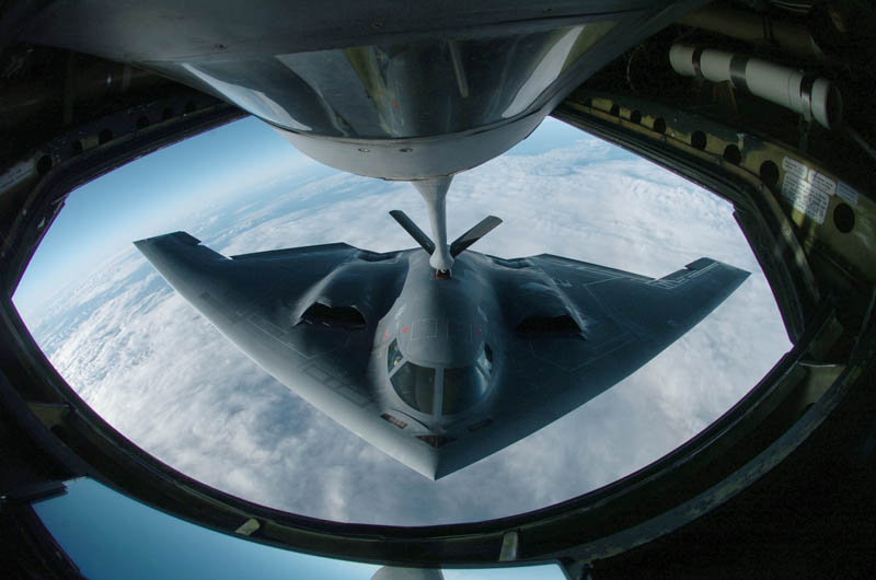 stealth bomber b 2 spirit mid air refueling 10 Things You Didnt Know About the Stealth Bomber