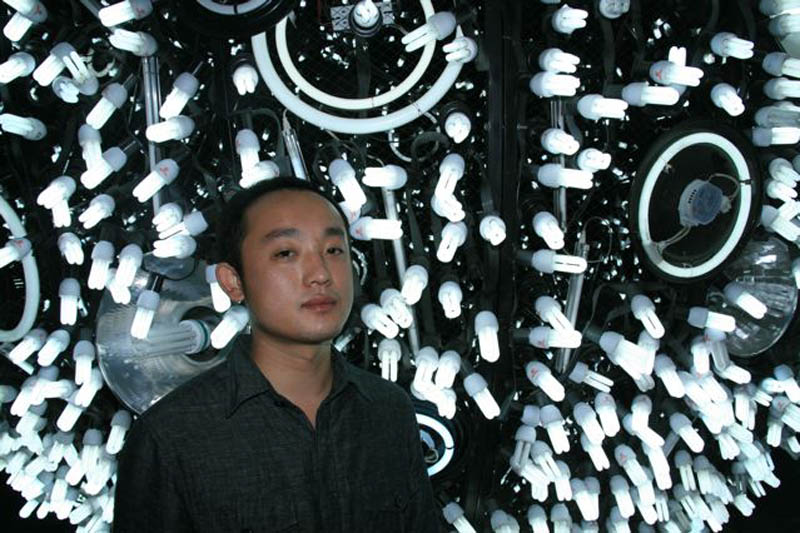 wang yuyang artificial fluorescent moon Picture of the Day: Fluorescent Moon in Shanghai