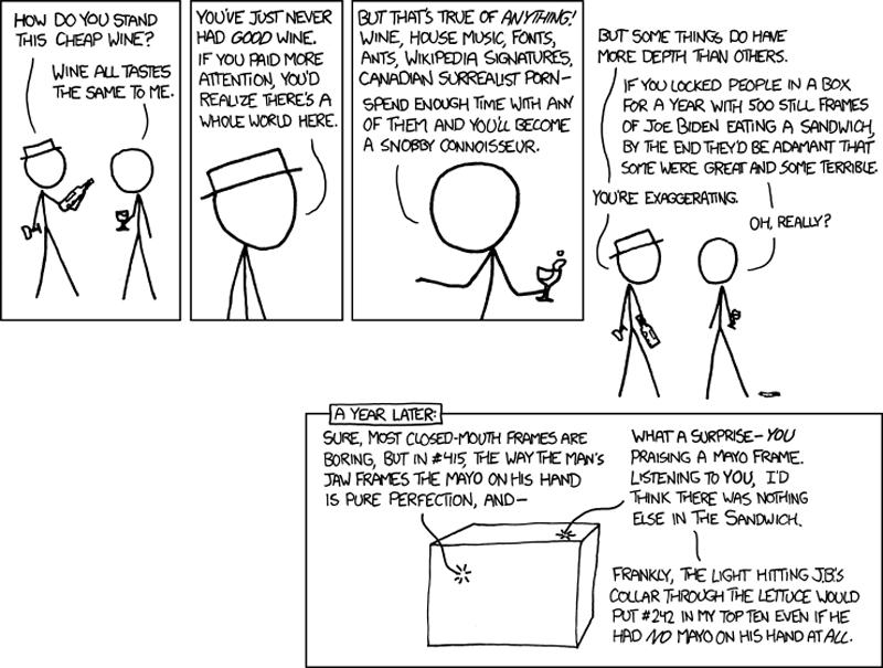 xkcd connoisseur comic critic Connoisseurs [Comic Strip]