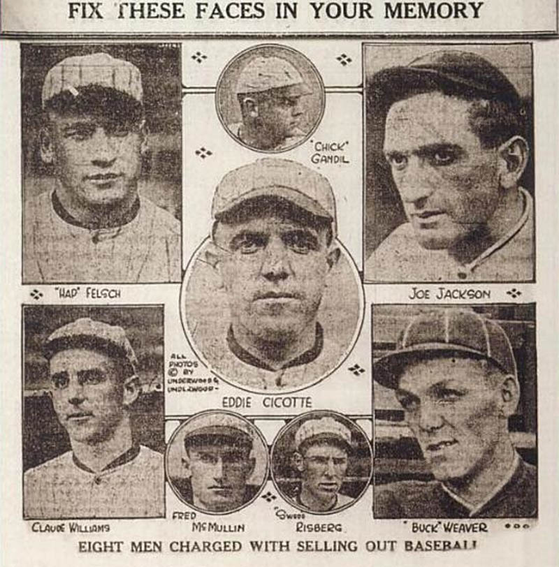 black sox scandal world series fix eight men banned This Day In History   August 3rd