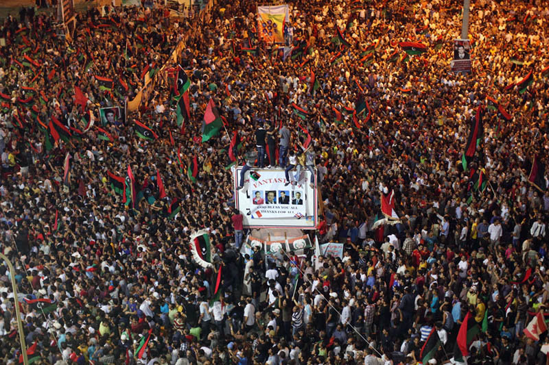 celebrating in benghazi libya 1 Picture of the Day: The End is Nigh