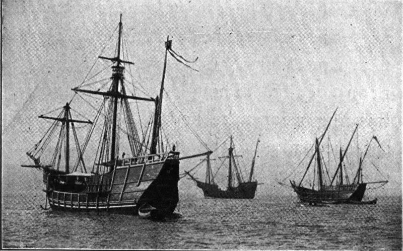 columbus fleet of ships nina pinta santa maria  This Day In History   August 3rd