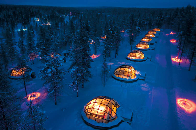 hotel kakslauttanen igloo village finland Picture of the Day: The Igloo Village Resort in Finland