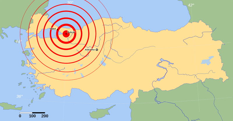 izmit earthquake map This Day In History   August 17th