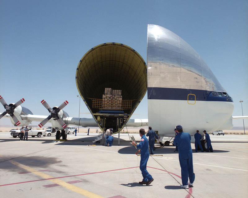 loading super guppy cargo transport plane This Day In History   August 31st