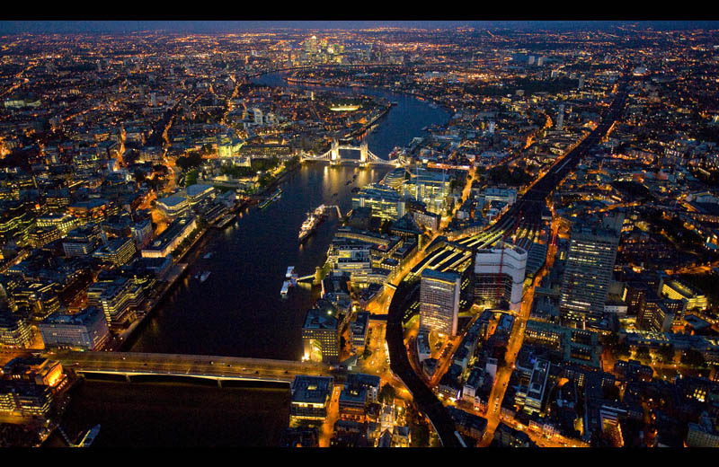 london at night from above aerial Picture of the Day: London Nights