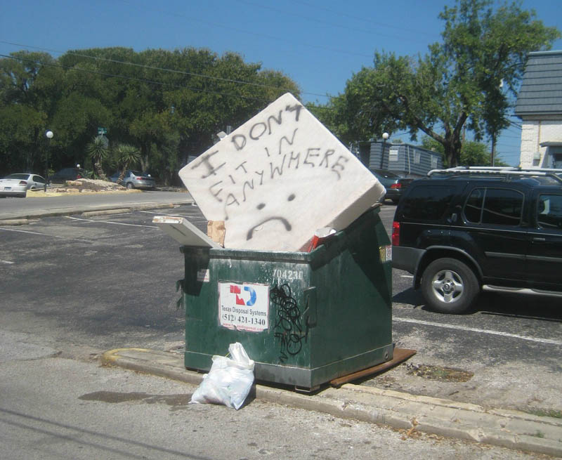 mattress in dumpster i dont fit in anywhere The Friday Shirk Report   Volume 123