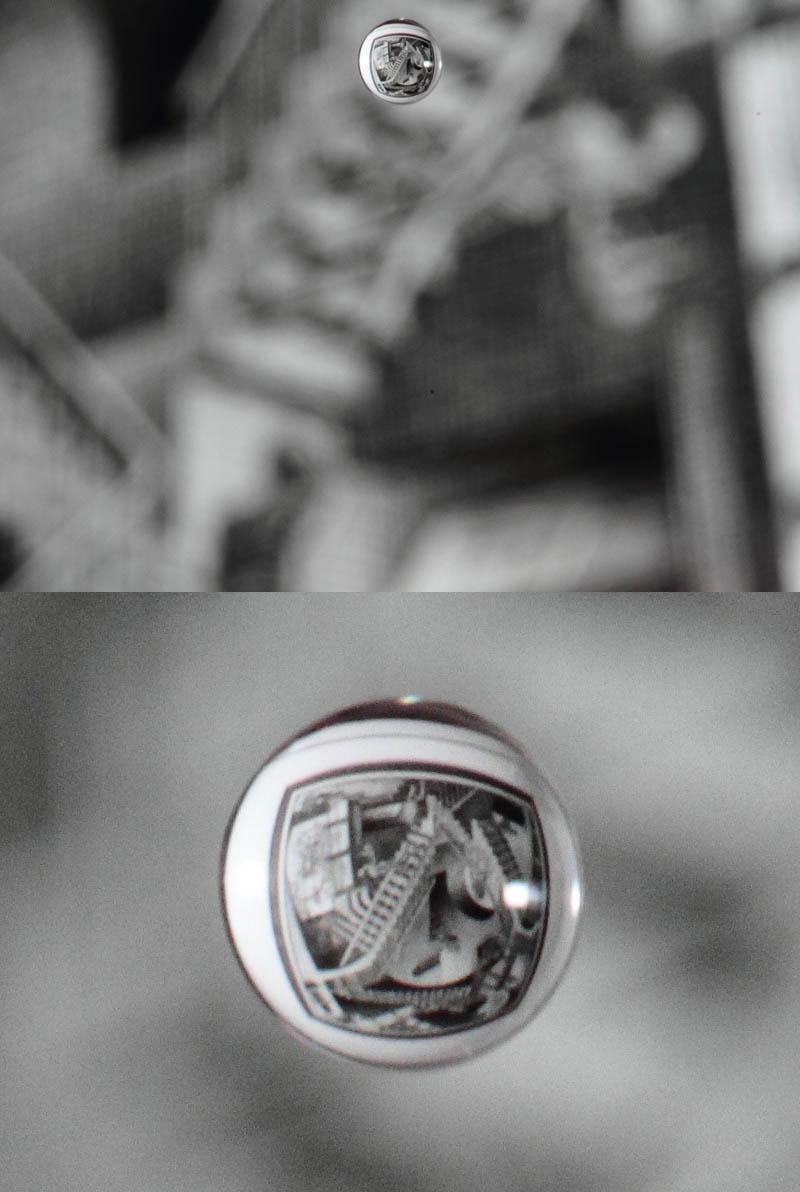 mc escher painting in waterdrop reflection Picture of the Day: M.C. Escher Water Drop Reflection