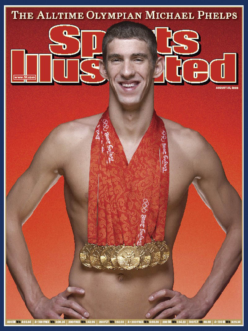 michael phelps sports illustrated cover This Day In History   August 17th