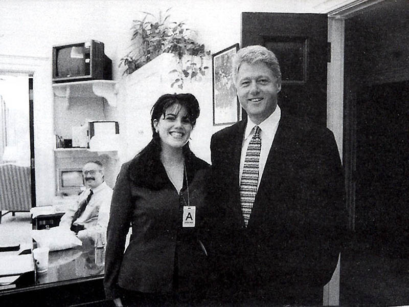 monica lewinsky with bill clinton This Day In History   August 17th