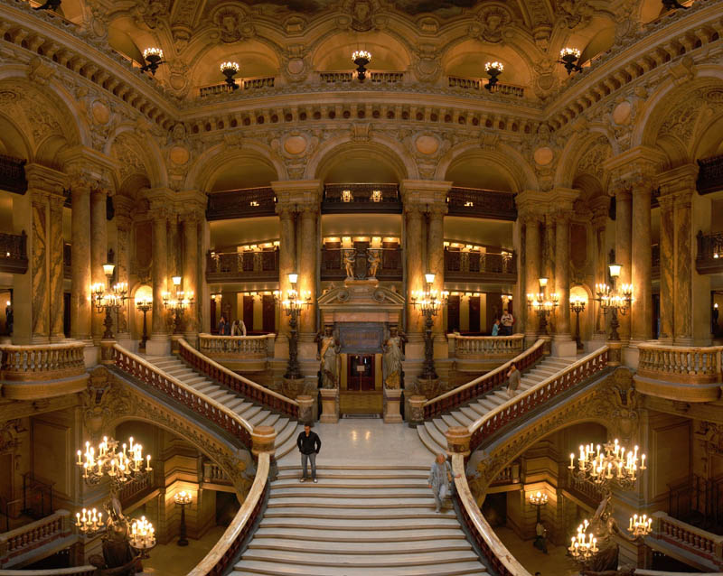 paris opera grand staircase Picture of the Day: The Paris Opera Grand Staircase