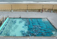 Picture of the Day: Hurricane Irene Pool Preparations