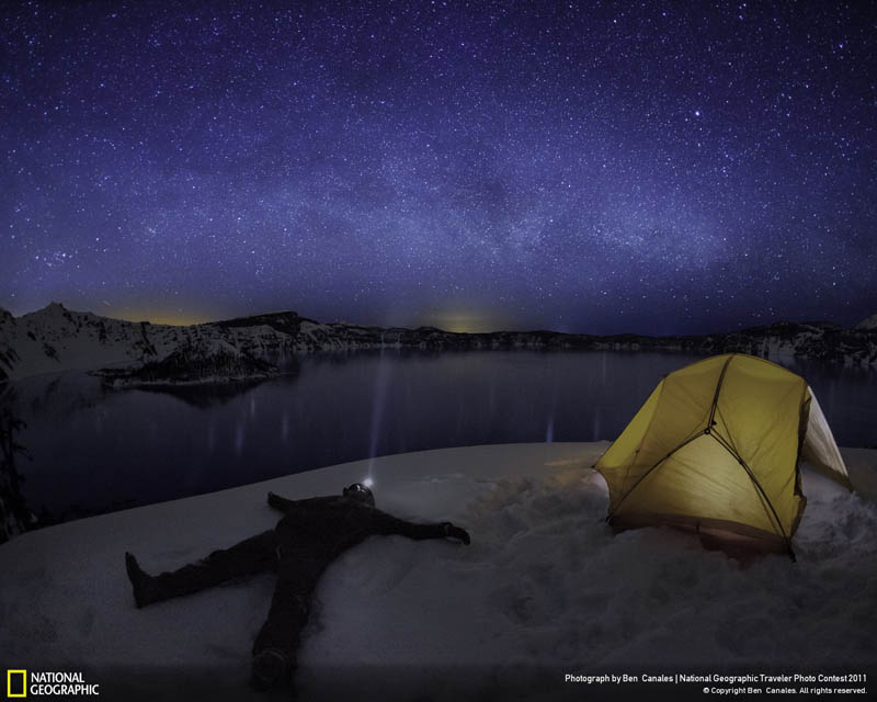 star gazing crater lake national park ben canales Picture of the Day: Stargazing