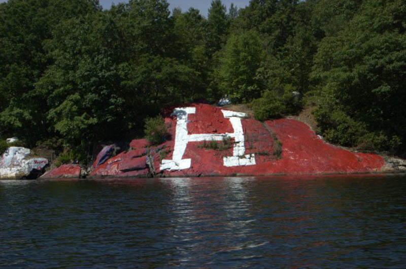the rock at bartletts cove painted crimson h This Day In History   August 3rd