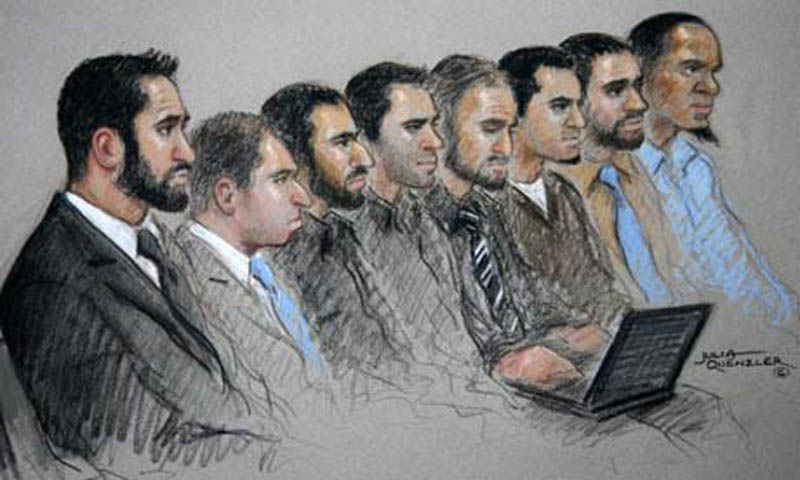 transatlantic aircraft plot terrorists courtroom sketch This Day In History   August 10th