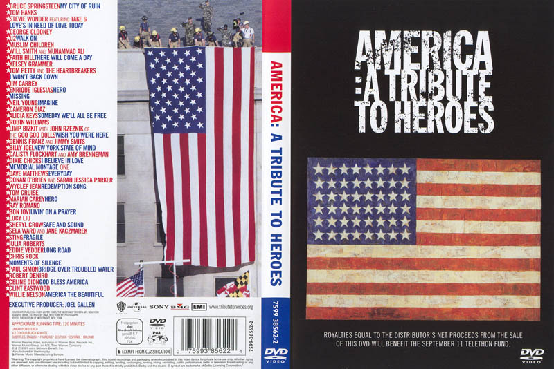 america a tribue to heroes dvd cover This Day In History   September 21st