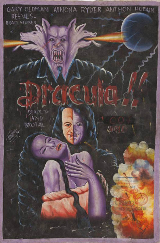 bram strokers dracula Bootleg Movie Posters from Ghana