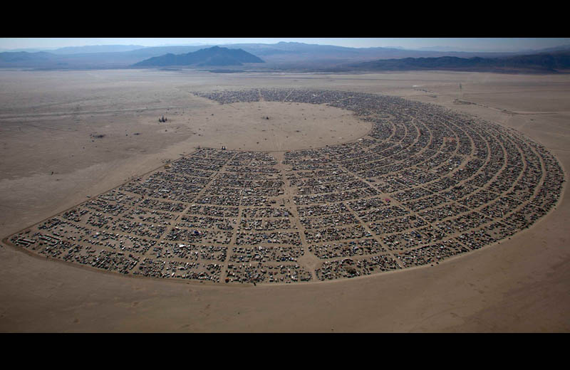 burning man 2011 aerial from above black rock desert rites of passage Picture of the Day: Burning Man Festival From Above