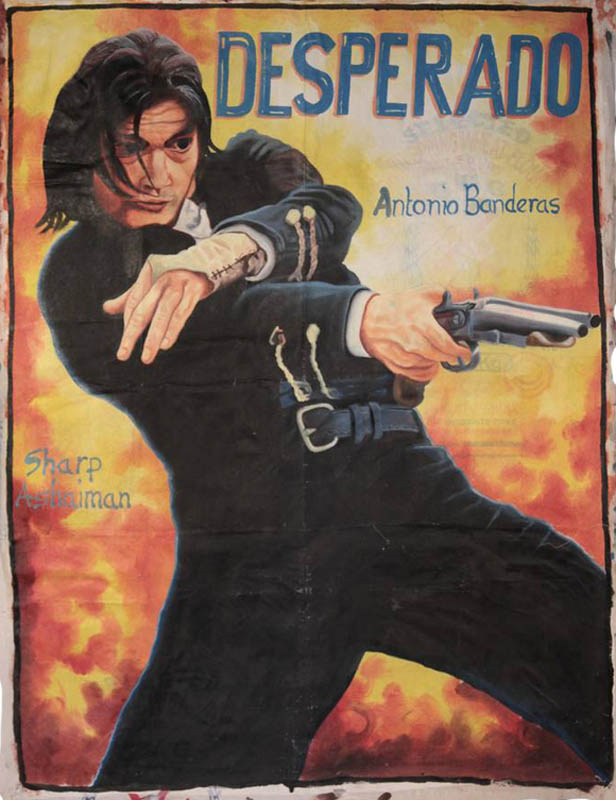 desperado Bootleg Movie Posters from Ghana