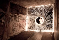 Picture of the Day: Fun with Firewire (Steel Wool)