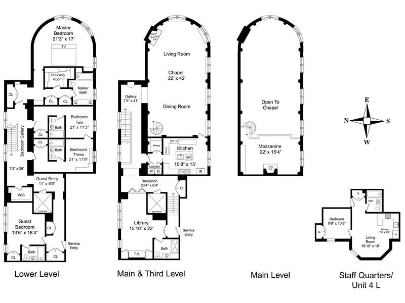 french chateau on central park in manhattan new york city floorplan Stunning French Chateau on Central Park [20 pics]