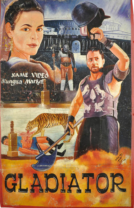 gladiator Bootleg Movie Posters from Ghana