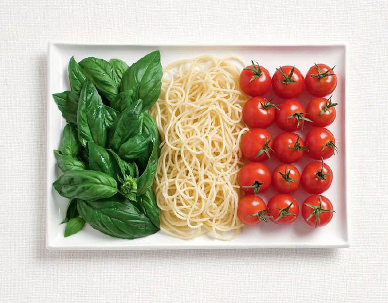 italy flag made from food Country Maps Made from Regional Foods