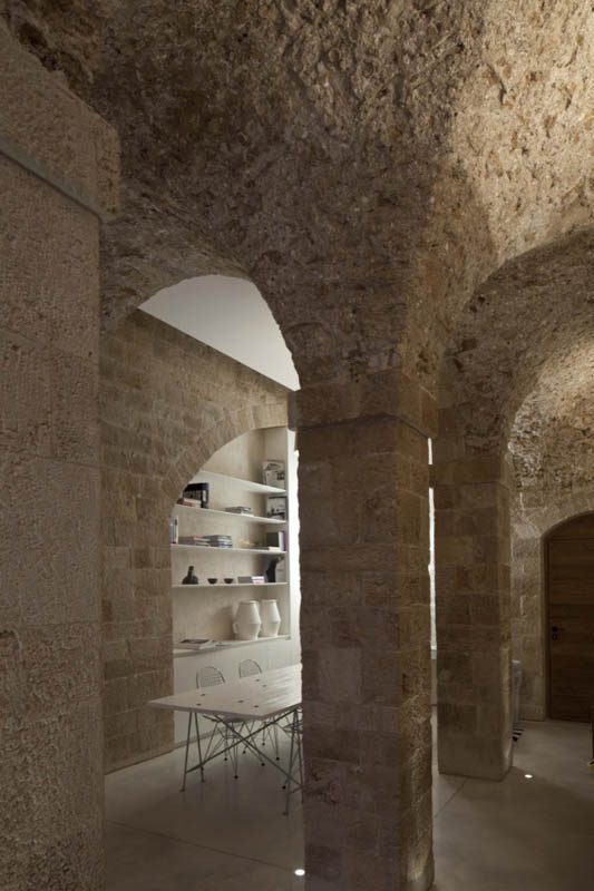 jaffa apartment stone restoration pitsou kedem architect 12 Beautiful Stone Home Restoration in Israel