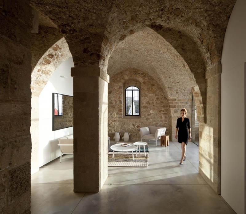 jaffa apartment stone restoration pitsou kedem architect 5 Beautiful Stone Home Restoration in Israel
