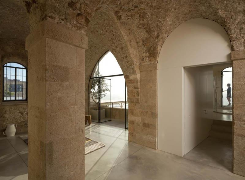 jaffa apartment stone restoration pitsou kedem architect 6 Beautiful Stone Home Restoration in Israel