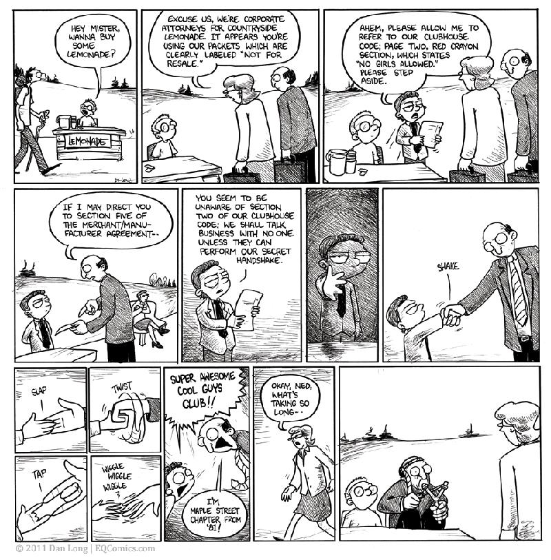 lemonade stand secret handshake comic The Lemonade Stand [Comic Strip]