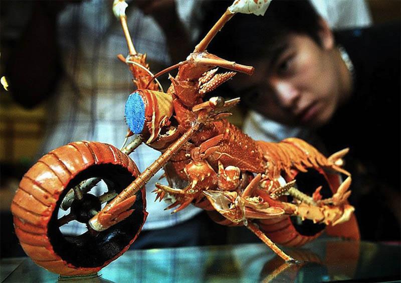 lobster motorcycle art 3 Lobster Shell Motorcycle Art