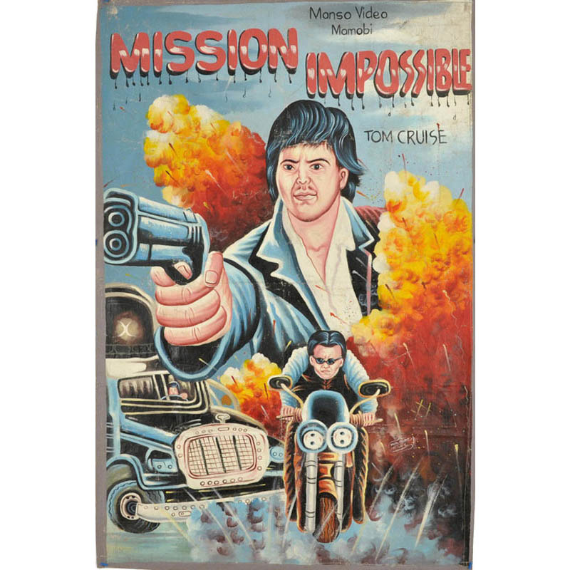 mission impossible bootleg movie poster from ghana Artist Imagines Architecture in the Film Style of Famous Directors