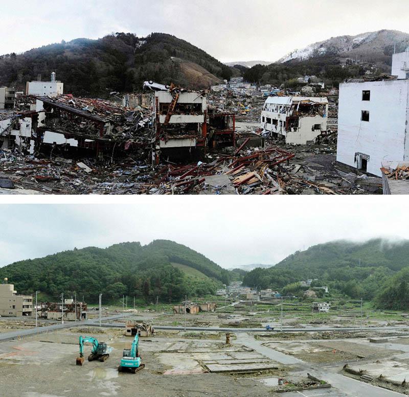 onagawa japan tsunami damage and cleanup Picture of the Day: Onagawa, Japan Six Months Later