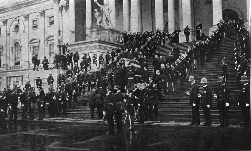 president mckinley casket funeral procession mourning This Day In History   September 14th