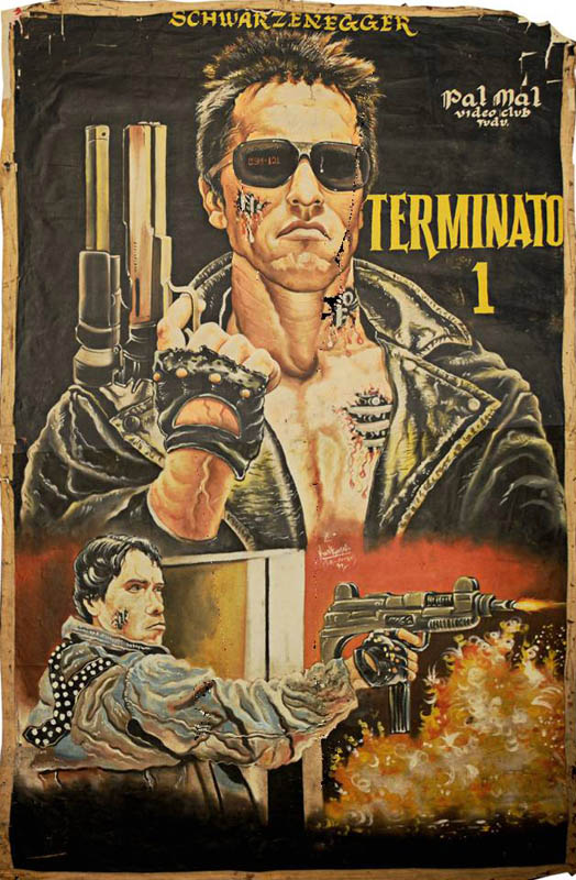 terminator 1 Bootleg Movie Posters from Ghana