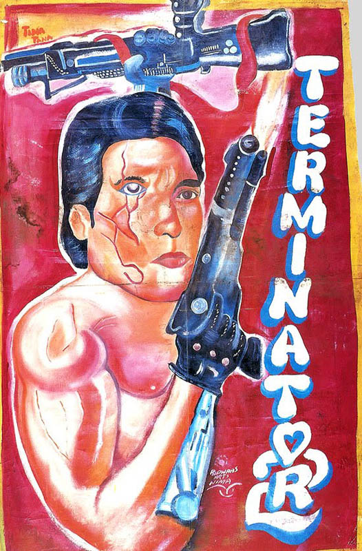 terminator 2 Bootleg Movie Posters from Ghana