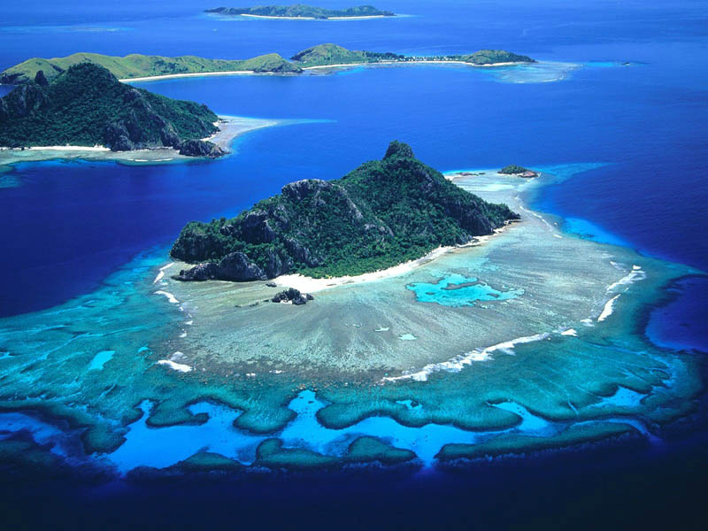 the island from cast away mamanuca islands of fiji Picture of the Day: The Mamanuca Islands of Fiji