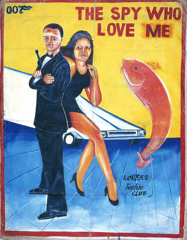 the spy who loved me 007 Bootleg Movie Posters from Ghana