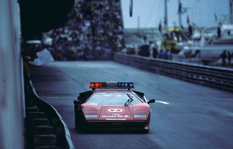 1983 monaco grand prix lamborghini countach safety car The Legendary Lamborghini Countach