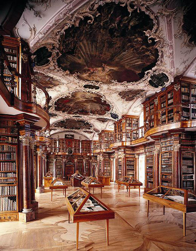 abbey library of saint gall 15 Beautiful Libraries Around the World