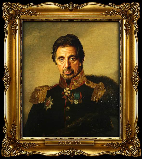 al pacino as russian general portrait 15 Celebrity Portraits Painted Like Russian Generals